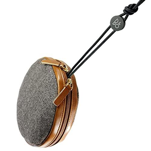 TUFF LUV [Kompatibel mit Bluetooth-Lautsprechern von Bang und Olufsen B und O BeoPlay A1 (1./2. Generation)] Fischgräten-Tweed-Reisetasche - Braun