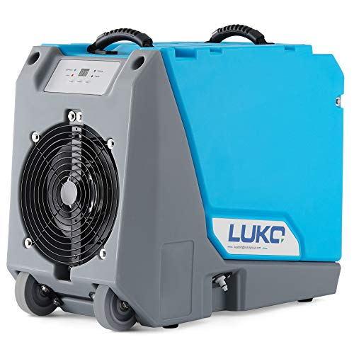 LUKO 180 PPD Commercial Dehumidifier with Pump Drain Hose for Basements Warehouse & Job Sites, Large Capacity Rotational Molded Portable Crawl Space Dehumidifier for Efficient Water Damage Restoration