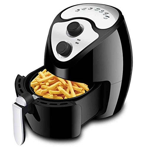 KT Mall Electric Air Fryer with Temperature Control 4.5 Liter Air Fryer Oven with Non-Stick Fry Basket and LED Digital Touchscreen Fry Healthier Meals Fast with 7 Easy Presets Black