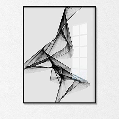 Black White Art Wall Art Canvas Painting Posters Picture for Living Room Morden Home Decor 30X40cm