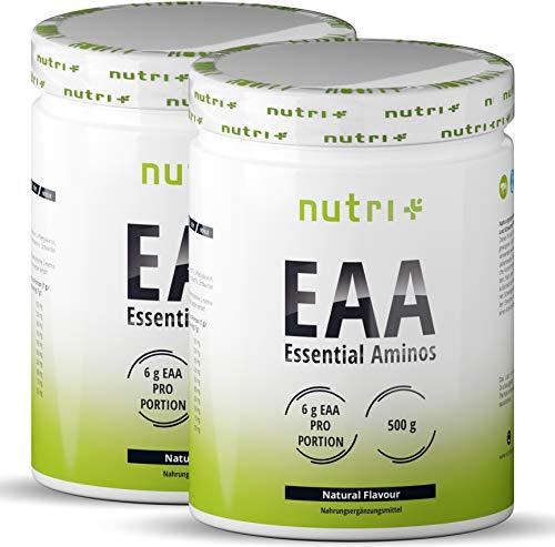 EAA Neutral 1kg - Höchste Dosierung - Instant EAAs ohne Süßstoff, Zusatzstoffe & künstlichen Geschmack - essenzielle Aminosäuren - Vegan Essential Aminos Pulver 1000g