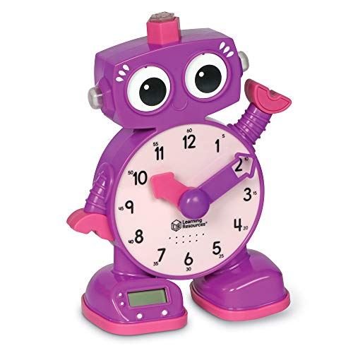 Learning Resources Tock The Learning Clock, Amazon Exclusive, Educational Talking Clock, Ages 3+, Purple (LSP2385AMZ)