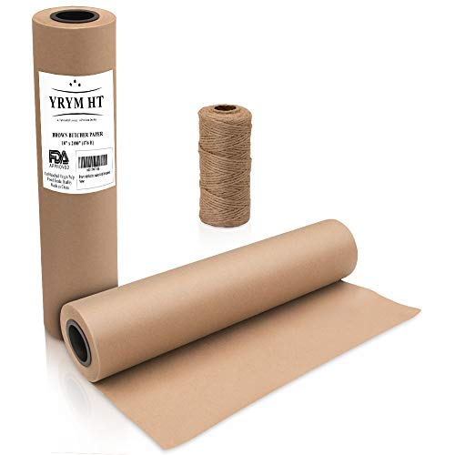 Brown Kraft Butcher Paper Roll - Natural Food Grade Brown Wrapping Paper for BBQ Briskets?Smoking & Wrapping Meats?18