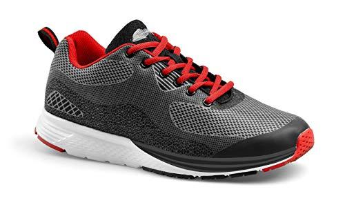 MY-DAY Schuhe Fit Aquarium grau/rot