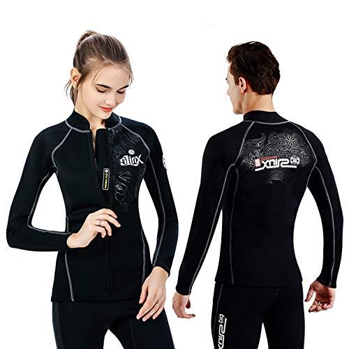 LLKK Camiseta de neopreno para hombre y mujer, 3 mm, para buceo, buceo, surf, XL