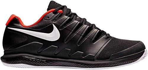 Nike Herren Air Zoom Vapor X Cly Tennisschuhe, Mehrfarbig (Black/White/Bright Crimson 016), 43 EU