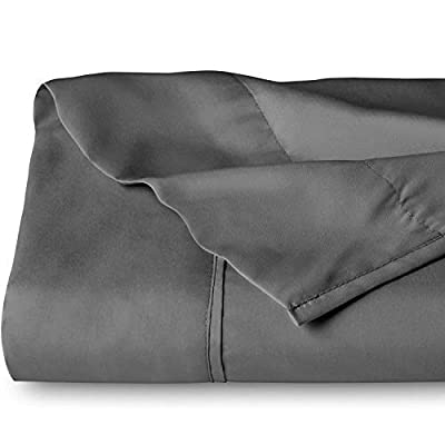 Bare Home Flat Top Sheet Premium 1800 Ultra-Soft Microfiber Collection - Double Brushed, Hypoallergenic, Wrinkle Resistant, Easy Care (King, Grey)