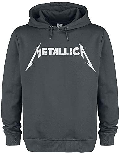 Metallica Amplified Collection - White Logo Sudadera con Capucha Gris Marengo M