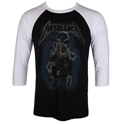 Metallica Herren Electric Chair T-Shirt, Mehrfarbig (Weiß/Schwarz), XL