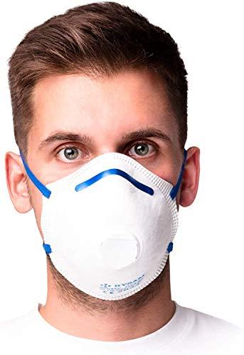 RYSAM Zertifizierte FFP3 Atemschutzmaske Staubmaske Atemmaske Staubschutzmaske Mundschutzmaske – 10 Stück - 5