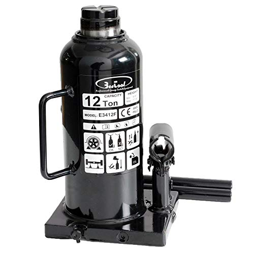 BESTOOL 12 Ton (24,000 lb) Hydraulic Welded Bottle Jack,Anti-Leakage Design Structure,Black