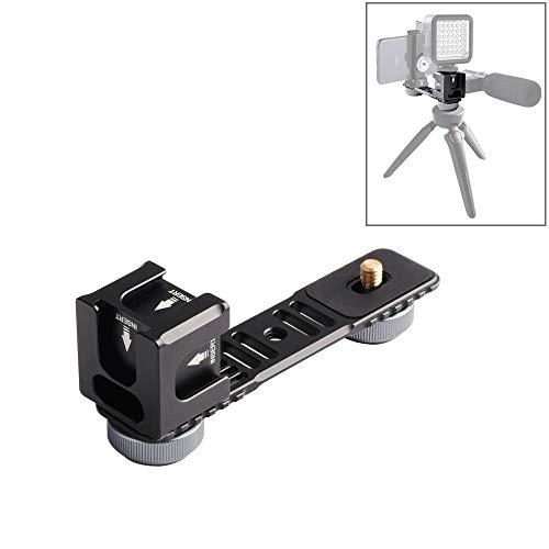 Moonbaby goede 4-kops koude Hot schoen Mount adapter microfoon flash licht aluminium legering extensie beugel voor DJI OSMO Mobile 2 / Zhiyun glad 4 / Feiyu Vimble 2 Gimbal Stabilizer