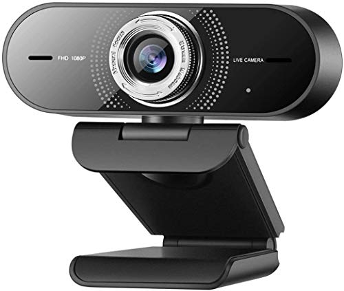 Angetube Webcam HD 1080P, PC Webcams mit Rauschunterdrückung Mikrofon, Pro Streaming USB WebCamera der Computer für Conferencing/YouTube/Facetime.
