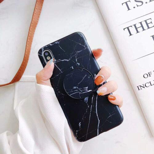 Marble Case With Pop Up Holder phone for iphone 8 XS Max XR Cases Socket Relief*