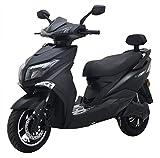 Highspeed Elektroroller ANGRY HAWK, 80 km/h, 4000 Watt Lithium Akku, E-Roller, E-Scooter mit Straßenzulassung, Motorrad, 125er Elektro Roller Scooter, Schwarz
