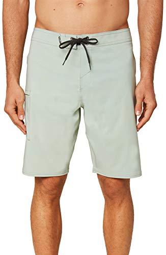 O'NEILL Men's Water Resistant Hyperfreak Stretch Swim Boardshorts, 20 Inch Outseam (Sea Foam/Solid, 34)