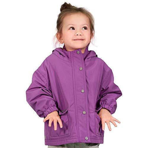 Jan & Jul Kids Waterproof Rain Jacket for Winter, Light-Weight Coat for Boys/Girls (Purple, 7 Years)