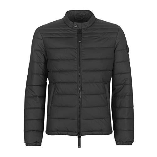 Guess Stretch Pu Packable JKT Jacken Herren Schwarz - S - Lederjacken/Kunstlederjacken Outerwear