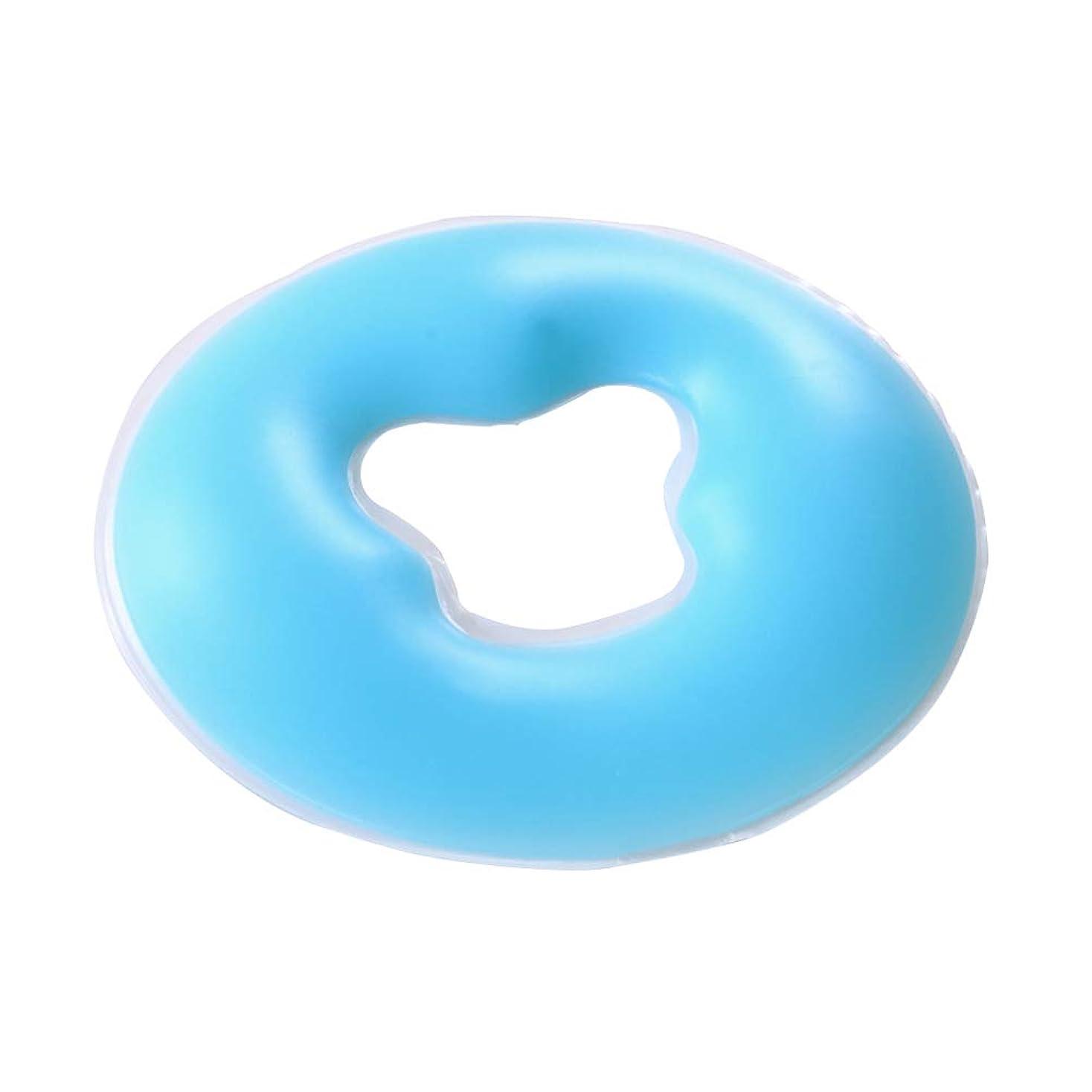 キャンセル受粉する活性化するHEALLILY Face Massage Pillow Silicone Massage Face Spa Pillow Pad for Beauty Salon Spa Massage Parlors (Blue)