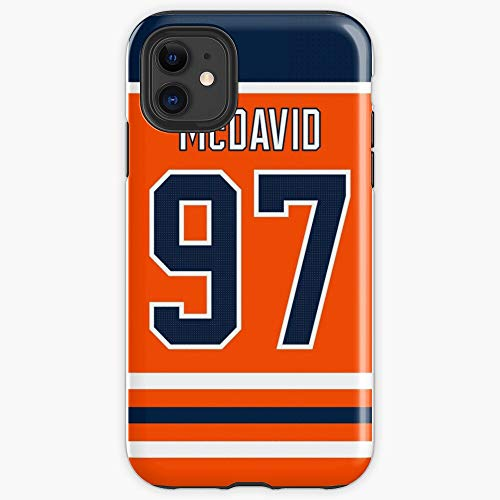 thepihut Edmonton Oilers Connor McDavid Home Jersey Back Phone Case iPhone Soft Protect and Create for Your iPhone(5 => Xi Pro Max)