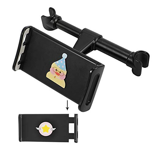 Tablet Holder Back Seat Stand Cradle, Car Tablet Headrest Mount Universal 360° Rotating Can Be Placed in The Middle for All 4.5~10.5' Tablets, Pad,E