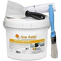 IMPER HUMEDADES de Tecno Prodist - (5 Kg + Kit) - Mortero para revestimiento de Impermeabilización. Tratamiento humedades muros, sótanos, etc. Impermeable al agua, fácil de usar + Accesorios