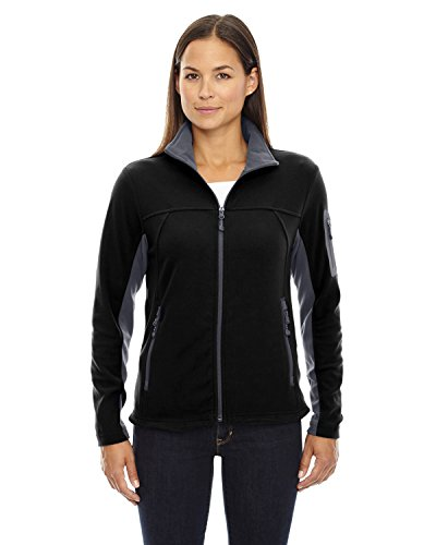 Ash City - North End Womens Full-Zip Microfleece Jacket (78048) -BLACK -L