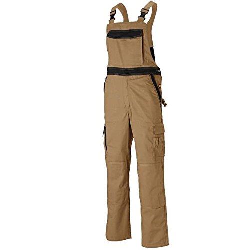 Dickies Industry300 Latzhosen Arbeitshosen Service, Farbe:khaki/schwarz;Größe:52