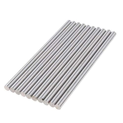 GUOSHUCHE Accesorios de torno 10 piezas de varillas de torno redondas de limpieza de barras de suministros de negocios Herramientas de mano