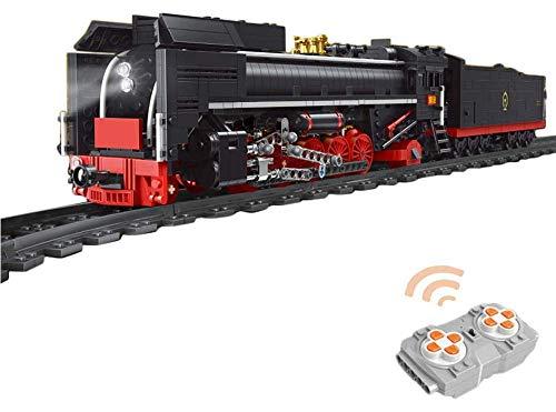 OATop 1552 Teile City Güterzug dampfeisenbahn Baustein Modell, City Zug mit Motor und Ferngesteuert Bauset Kompatibel mit Lego