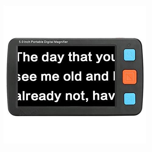 JL Faltbarer Griff LCD-Digitallupe mit LED-Licht 5.0 Zoll elektronische Lesehilfen für Sehbehinderte Farbenblindheit (4-32X)