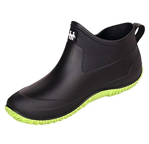Uomo Donna Scarpe da Giardinaggio Impermeabili Scarpe da Pioggia Antiscivolo Stivaletti di Gomma Stivali Caviglia Caldi Taglia 35-44