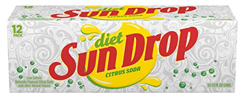 Diet Sun Drop Citrus Soda, 12 Fluid Ounce Can, 12 Count