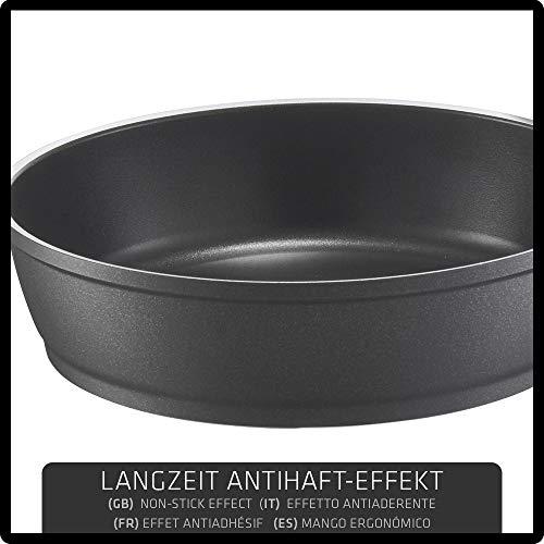 24 cm Color Negro Sart/én con Mango extra/íble y Superficie Antiadherente para inducci/ón Berndes Vario Click Induction