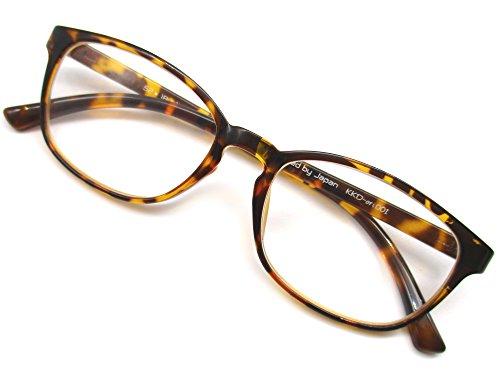 ウェリントン ファッション 老眼鏡 シニアグラス 非球面 レンズ 軽量 丈夫 TR90素材 (+3.50)