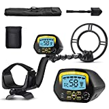 SAKOBS Metal Detector for Adults Waterproof - Professional Higher Accuracy Gold Detector with LCD Display, DISC & Notch & All Metal Mode, Advanced DSP Chip 10' Coil Metal Detectors