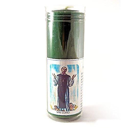 Velón esotérico San Cono- Tamaño 14 x 5,5 cm- Vela para Suerte, Dinero y Trabajo