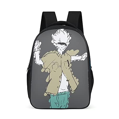 Backpack Jujutsu Kaisen Sukuna Design Bookbag Lightweight Daypack Business Bag for Men Women bright gray onesize