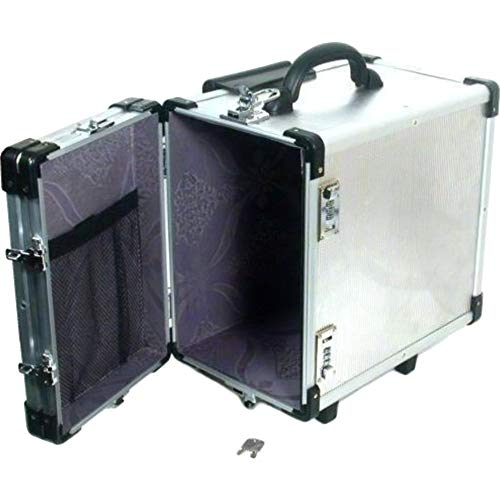 Hot Sale Aluminum Carrying Case Rolling Box Jewelry Display