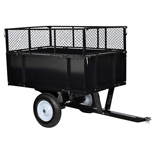 vidaXL Remorque de Jardin Chariot de Transport Charrette à Main Plage Gazon