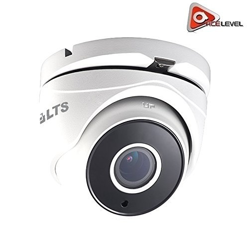 LTS Platinum Motorized Varifocal Turret HD-TVI Camera: 2.1MP, 2.8-12mm Lens, True WDR 120dB, 6 Matrix IR up to 131ft, DC 12V, IP66 - CMHT1923W-Z
