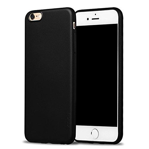 X-level für iPhone 6s Plus Hülle, iPhone 6 Plus Hülle, Soft Flex TPU Case Ultradünn Handyhülle Silikon Bumper Cover Schutz Tasche Schutzhülle Kompatibel mit iPhone 6s Plus/6 Plus 5,5 Zoll - Schwarz