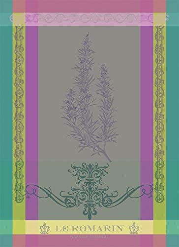 Garnier Thiebaut Brin de Romarin - Asciugamano da cucina, motivo: orchidea, 55,9 x 76,2 cm, multicolore