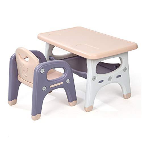 Los niños de aprender y jugar Tabla Tabla Presidente Combinación Conjunto Inicio Kinder de niños espesar escritura Mesa Cuadrada dibujo de aprendizaje del escritorio del bebé Para los niños juguetes e