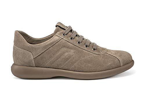 Frau 2752 Suede, Sneaker Uomo, Scarpa Lacci, Modello Camper, Gomma Light (Sughero, 42)