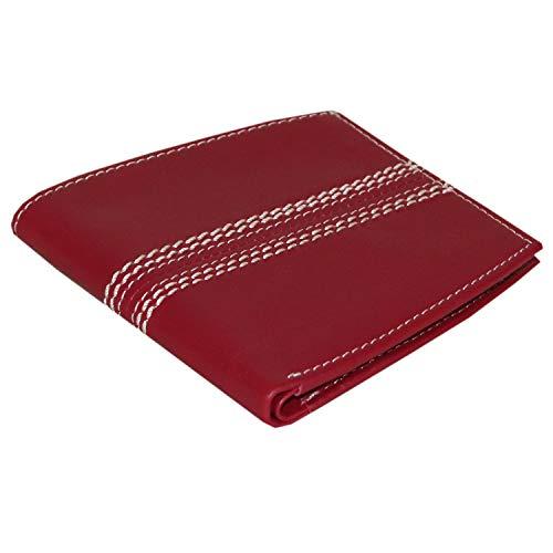 Rallegra Herren-Geldbörse aus Leder, mit RFID-blockierendem Cricket-Ball, Rot