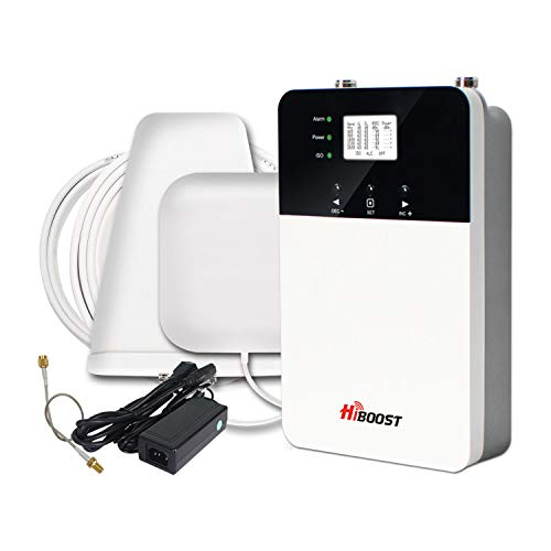 HiBoost Cell Signal Booster for Home and Office - Up to 3,000-6,000 sq. ft, Signal Extender Cellular Booster Compatible with AT&T, T-Mobile, Verizon, Sprint, and US Cellular Cell Phone Booster