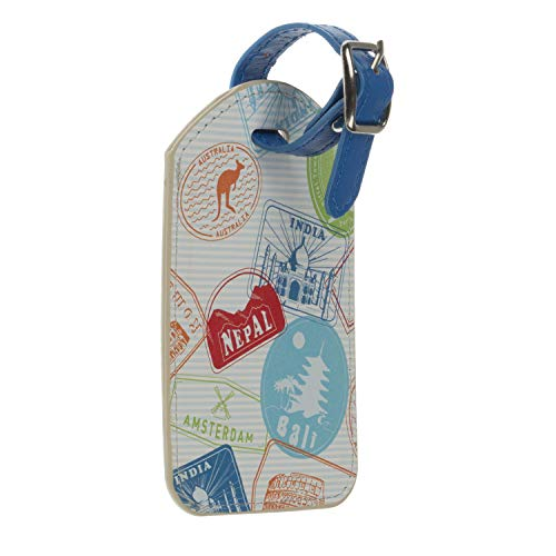 Trendz Travel Luggage Tag/Wallet Stamps - Multicoloured, Tampons Voyage (Multicolour) - TZSTALT