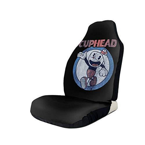 Ahdyr Protecteur de siège d'auto Housse de siège d'auto avec Technologie d'impression 3D Cuphead et Mugman
