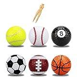 AZ DORADO ゴルフ コンペ 景品 カラーボール ティー 20本 セット プレゼント ギフト おもしろ グッズ カラー ボール (マルチカラー)